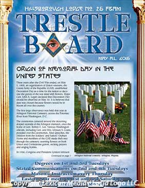 Hillsborough Lodge No. 25 May 2015 Trestle Board